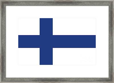 Framed Print featuring the digital art Flag Of Finland by Bruce Stanfield