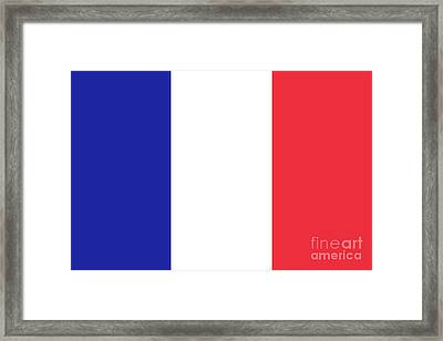 Flag Of France High Quality Authentic Image Framed Print