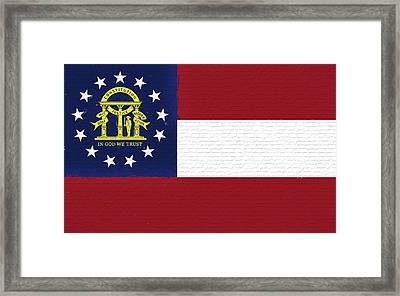 Flag Of Georgia Wall. Framed Print