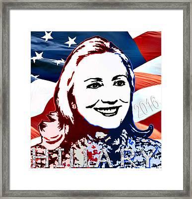 Flag Of Hillary Framed Print