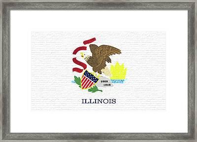 Flag Of Illinois Wall Framed Print
