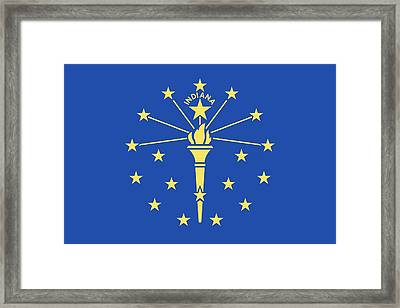 Flag Of Indiana Framed Print by American School