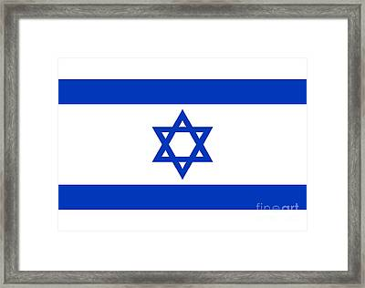 Flag Of Israel Authentic Version Framed Print by Bruce Stanfield