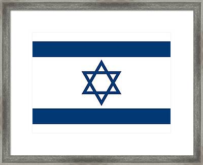 Flag Of Israel Framed Print by Unknown
