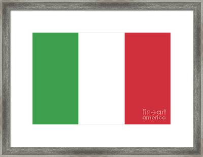 Framed Print featuring the digital art Flag Of Italy by Bruce Stanfield