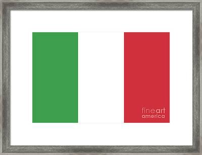 Flag Of Italy Framed Print