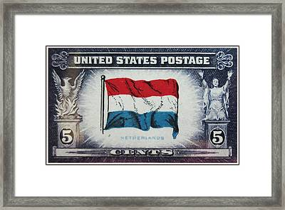 Flag Of Netherlands Framed Print by Lanjee Chee