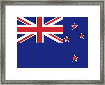 Flag Of New Zealand Framed Print