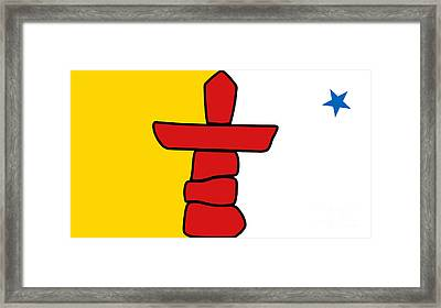 Flag Of Nunavut High Quality Authentic Hd Version Framed Print