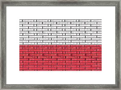 Flag Of Poland Graffiti Framed Print by Roy Pedersen