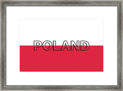 Flag Of Poland With Text Framed Print by Roy Pedersen