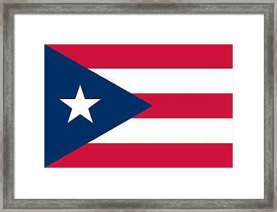 Flag Of Puerto Rico Framed Print by Unknown