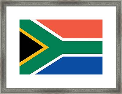 Flag Of South Africa Framed Print by Unknown
