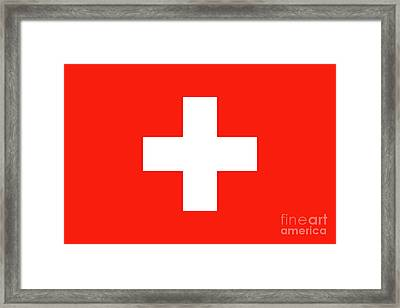 Framed Print featuring the digital art Flag Of Switzerland by Bruce Stanfield