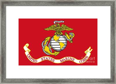 Flag Of The United States Marine Corps Framed Print