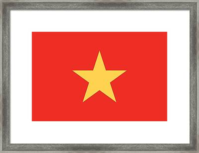 Flag Of Vietnam Framed Print by Unknown