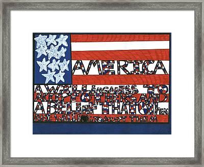 Flag One Framed Print by Darrell Black