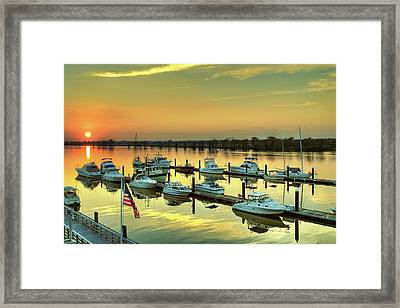 Flag Over Heritage Framed Print