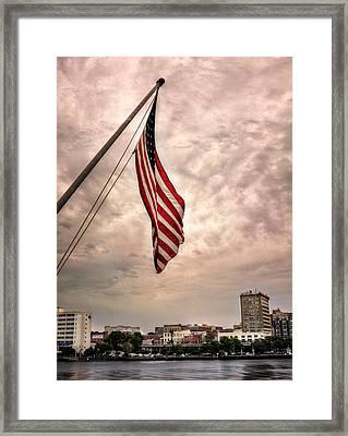 Flag Over Wilmington Framed Print by Chrystal Mimbs