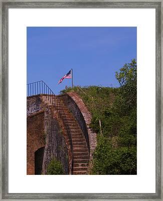 Flag Still Stands Framed Print by Scott Easom