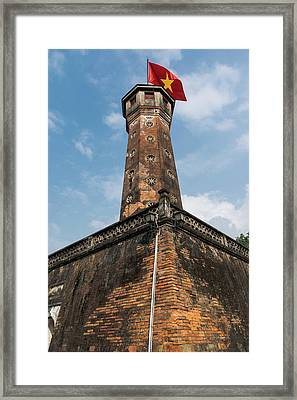 Flag Tower Framed Print