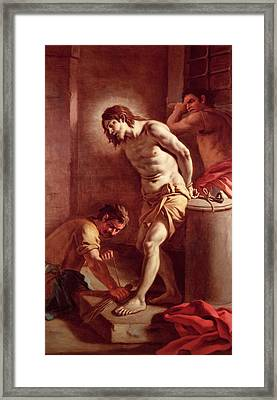 Flagellation Of Christ Framed Print by Pietro Bardellini