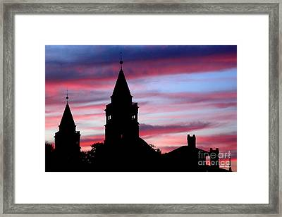Flagler Towers Framed Print by Addison Fitzgerald