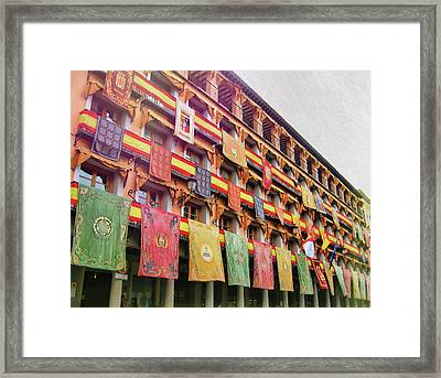 Spanish Flags Framed Print by JAMART Photography