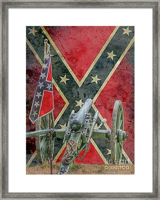 Flags Of The Confederacy Ver Two Framed Print