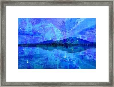 Flagstaff Lake Blu Framed Print