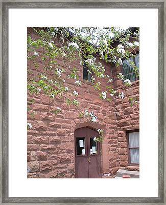 Flagstaff Stone Church Framed Print by Jeanette Oberholtzer