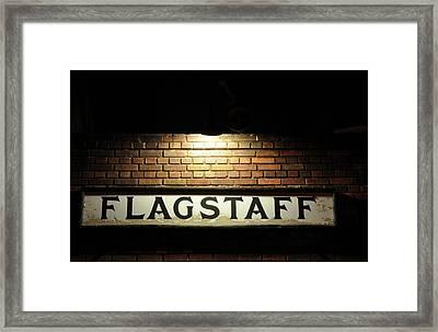 Flagstaff Train Station Framed Print