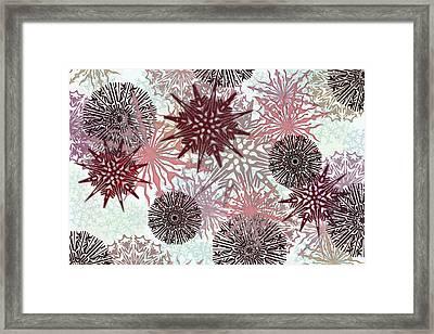 Flakes Love Framed Print