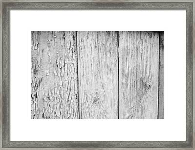 Framed Print featuring the photograph Flaking Grey Wood Paint by John Williams