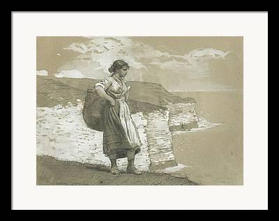 Single Figure Study Paintings Framed Prints