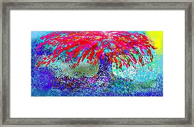 Framed Print featuring the painting Flamboyan by The Art of Alice Terrill