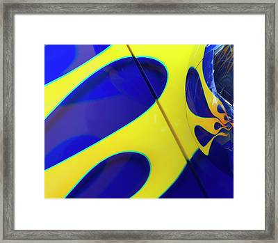 Flame Abstract Framed Print