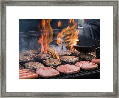Flame Broiled Framed Print