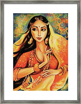 Framed Print featuring the painting Flame by Eva Campbell