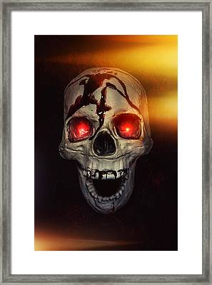 Flame Eyes Framed Print