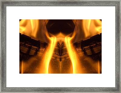 Flame Forms Framed Print by Ross Powell