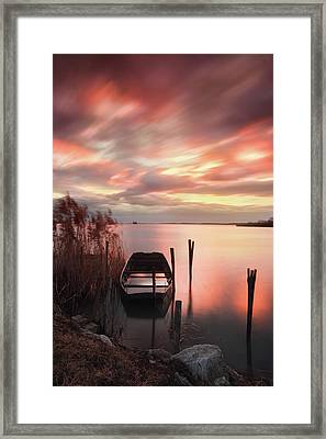 Framed Print featuring the photograph Flame In The Darkness by Davor Zerjav