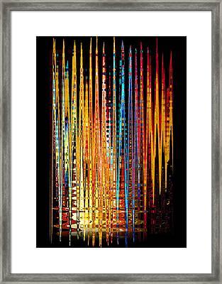 Framed Print featuring the digital art Flame Lines by Francesa Miller