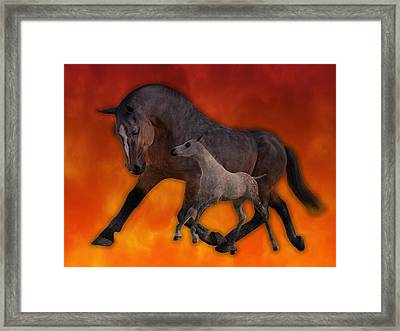 Flame N Firehouse  Framed Print by Betsy Knapp