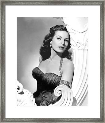 Flame Of Araby, Maureen Ohara, 1951 Framed Print