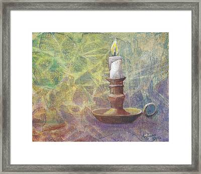 Flame Of Hope Framed Print by Arlissa Vaughn