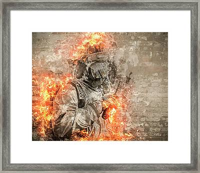 Flame Of The Brave Framed Print