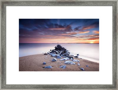 Framed Print featuring the photograph Flame On The Horizon by Edward Kreis
