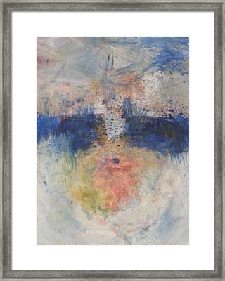 Framed Print featuring the painting Flame Reflections by John Fish