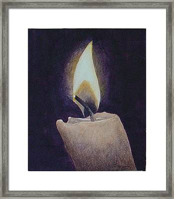 Flame Framed Print by Ron Sylvia
